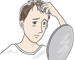 薄毛を気にする男性